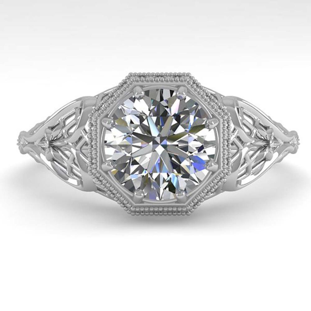 1.53 ctw VS/SI Diamond Solitaire Ring 14K White Gold - REF-529W2H - SKU:35625