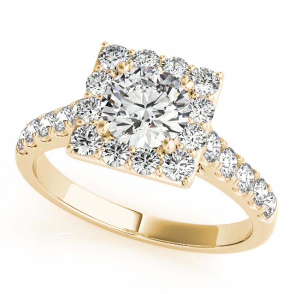 2.5 ctw VS/SI Diamond Halo Ring 14K Yellow Gold - REF-522R7K - SKU:24685