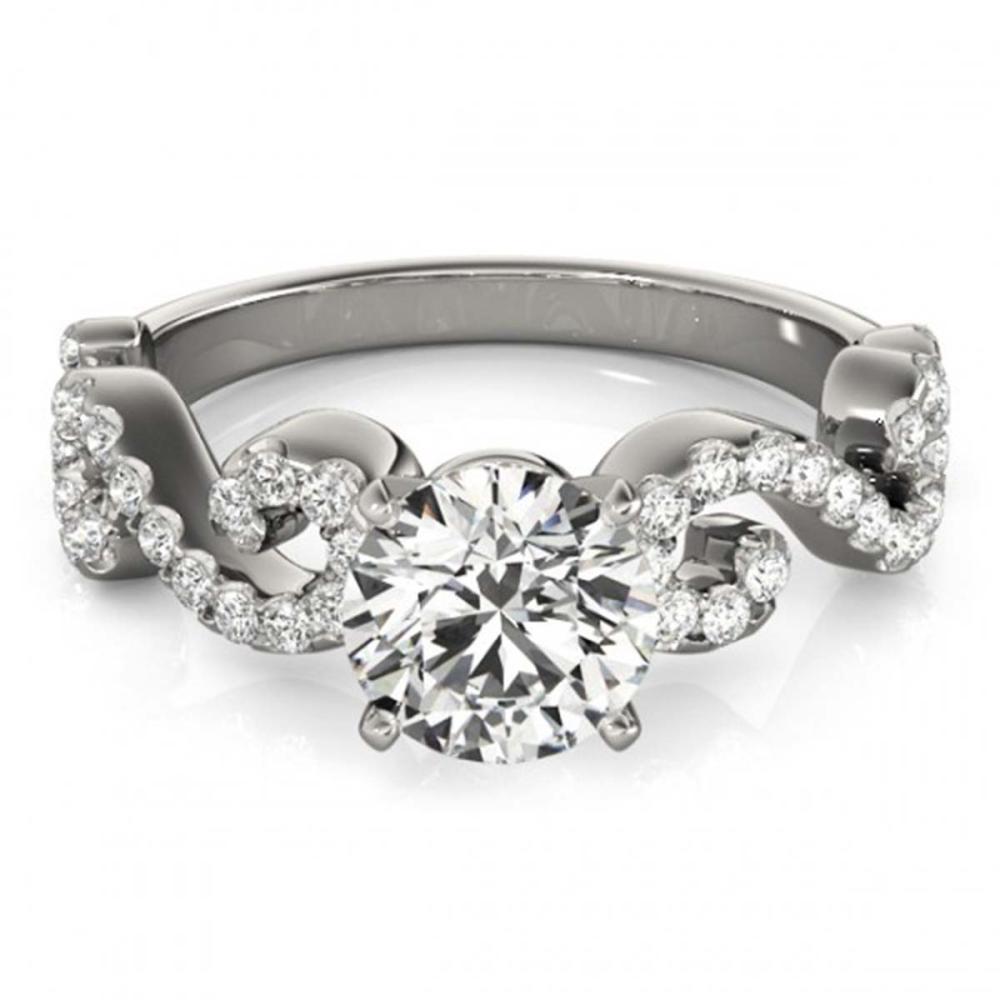 1.15 ctw VS/SI Diamond Solitaire Ring 14K White Gold - REF-141M3F - SKU:25703