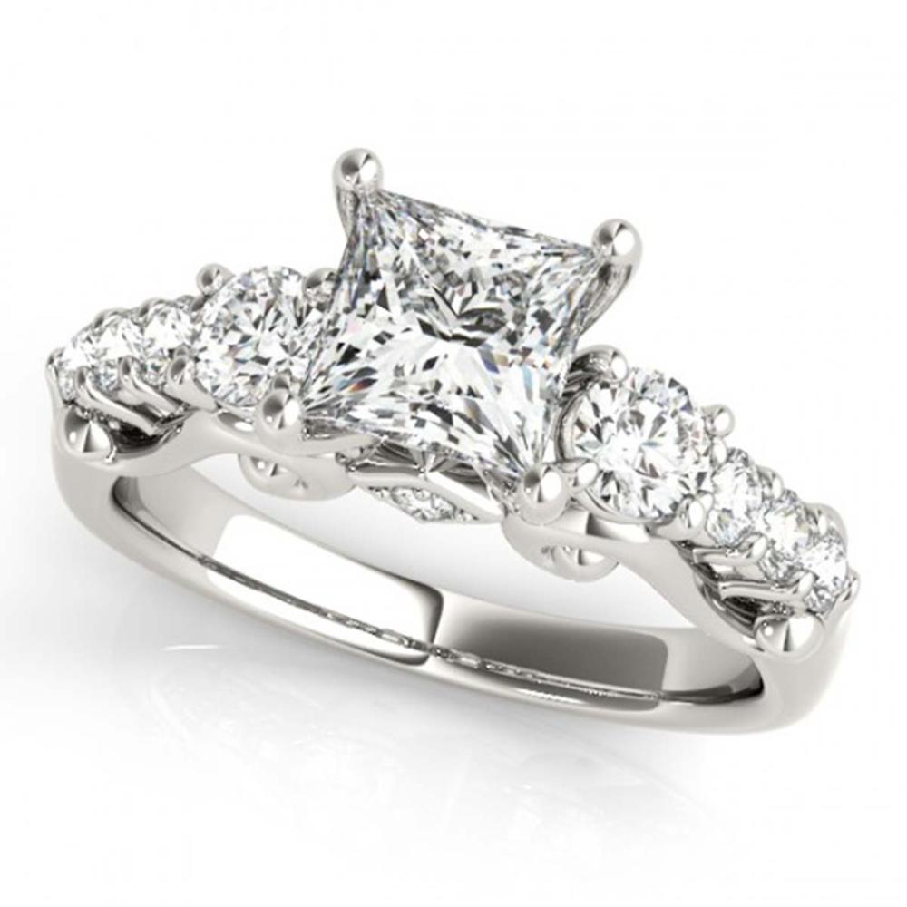 1.50 ctw VS/SI Diamond 3 Stone Princess Cut Ring 14K White Gold - REF-184N3A - SKU:25841