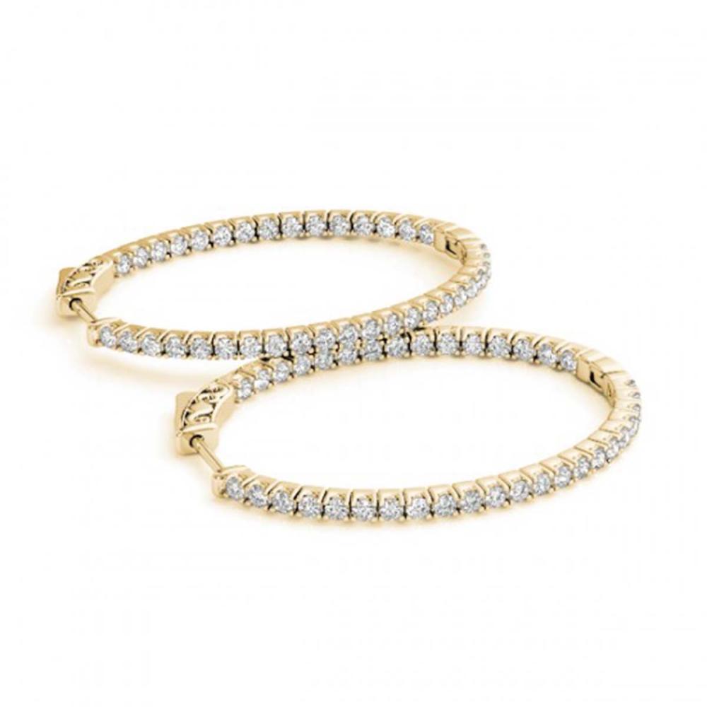 2.25 ctw Diamond VS/SI 37 mm Hoop Earrings 14K Yellow Gold - REF-163A3V - SKU:29184