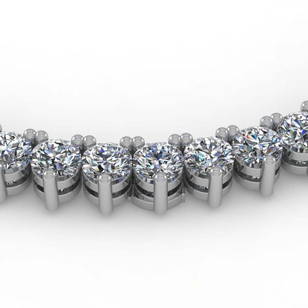 22 ctw 3 Prong VS/SI Diamond Necklace 18K White Gold - REF-2004Y5X - SKU:36111