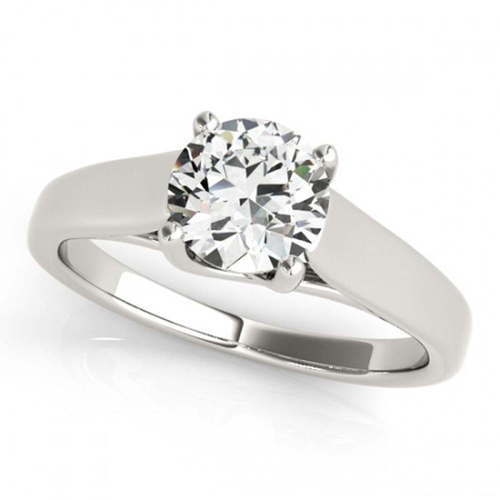 0.75 ctw VS/SI Diamond Solitaire Ring 14K White Gold - REF-123A5V - SKU:25997
