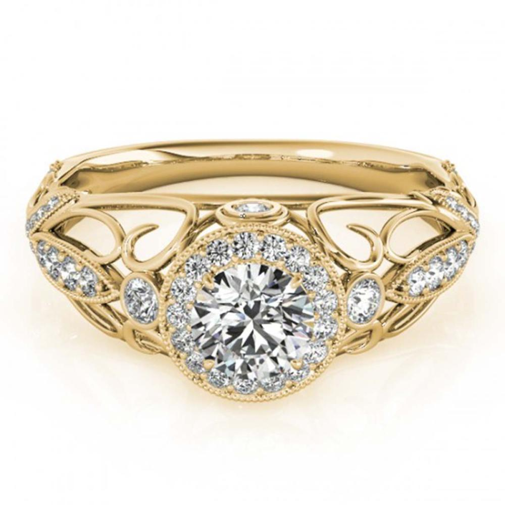 0.93 ctw VS/SI Diamond Solitaire Ring 14K Yellow Gold - REF-97M6F - SKU:25177