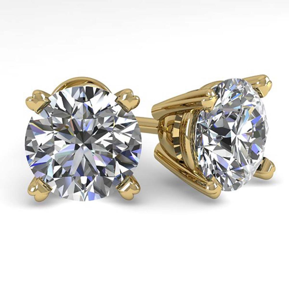 2.50 ctw VS/SI Diamond Stud Earrings 18K Yellow Gold - REF-744V5Y - SKU:32311