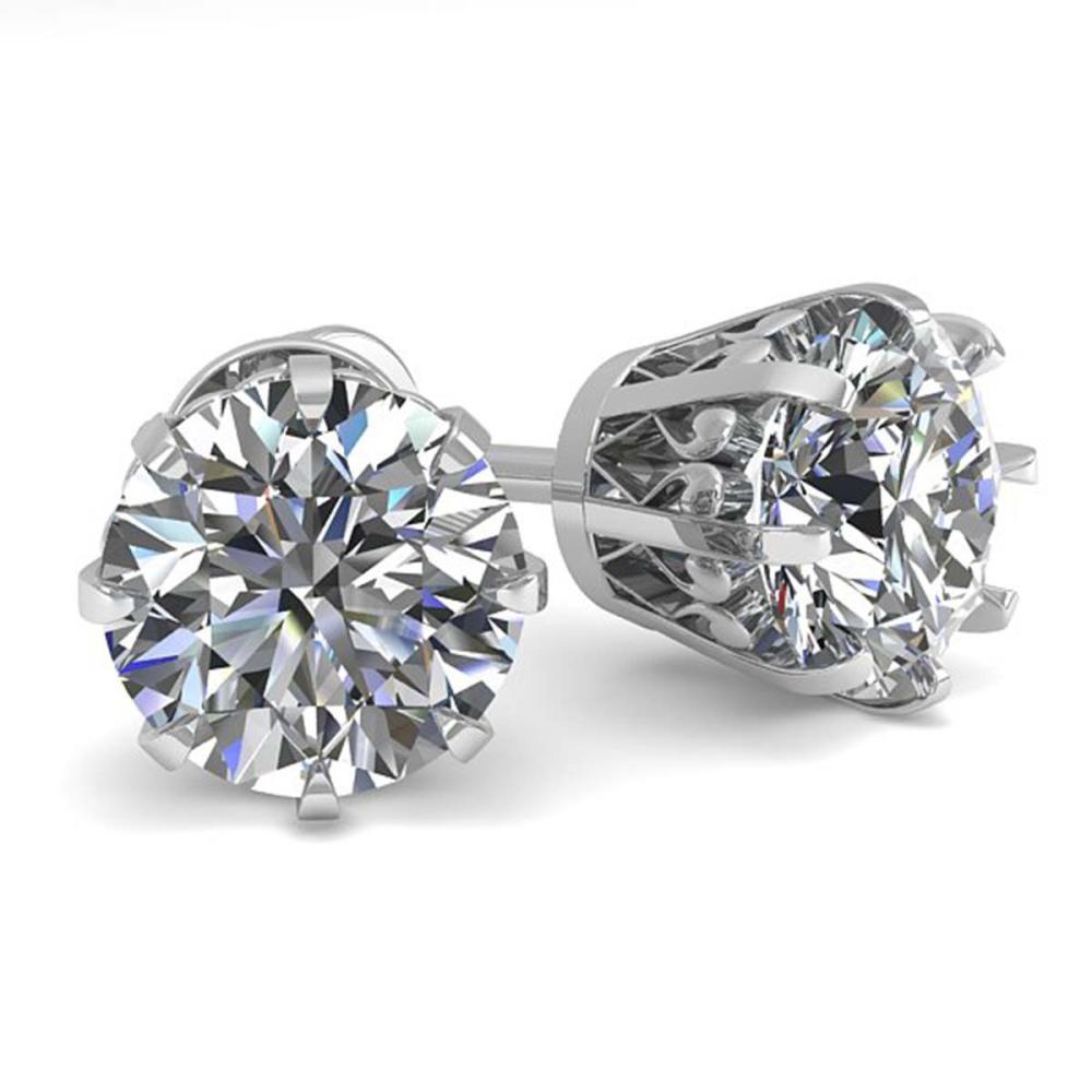 2.03 ctw VS/SI Diamond Stud Earrings 14K White Gold - REF-539K3W - SKU:35562