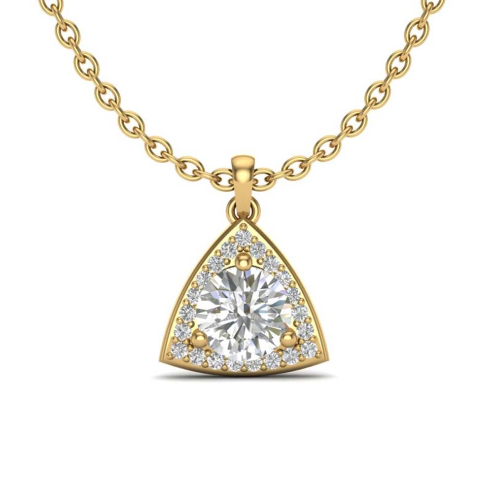 1.50 ctw VS/SI Diamond Necklace 18K Yellow Gold - REF-385M8F - SKU:20525