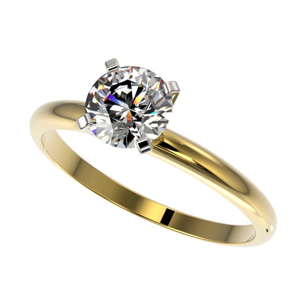 1.06 ctw H-SI/I Diamond Ring 10K Yellow Gold - REF-202W5H - SKU:36406