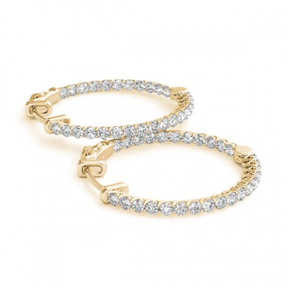 2.5 ctw Diamond VS/SI 20 mm Hoop Earrings 14K Yellow Gold - REF-216X4R - SKU:29049