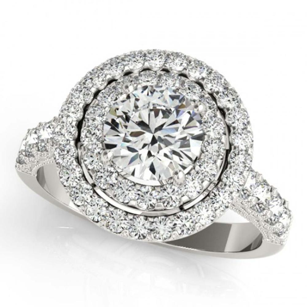 2.25 ctw VS/SI Diamond Halo Ring 14K White Gold - REF-313R3K - SKU:24731