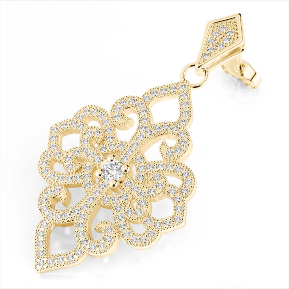 2.50 ctw VS/SI Diamond Earrings 14K Yellow Gold - REF-236R4K - SKU:22551