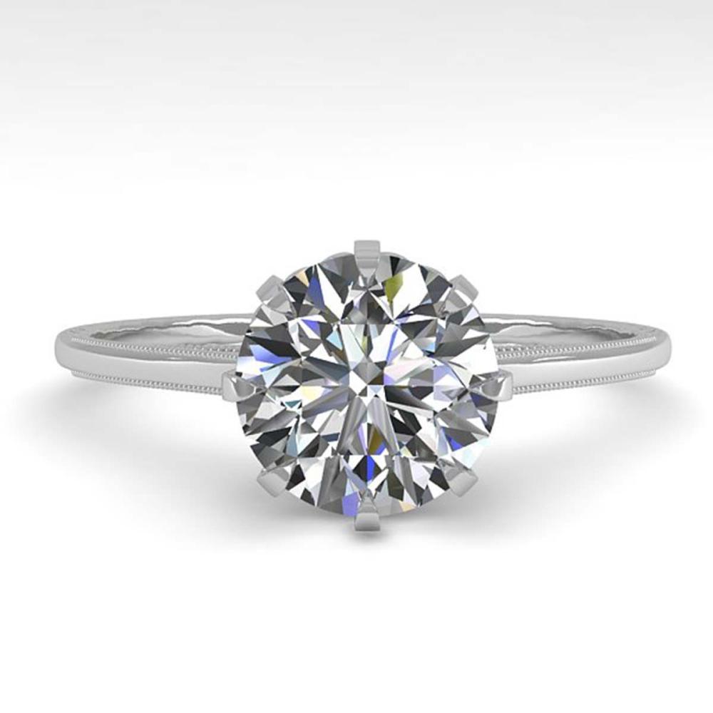 1.50 ctw VS/SI Diamond Ring 14K White Gold - REF-514K4W - SKU:29604