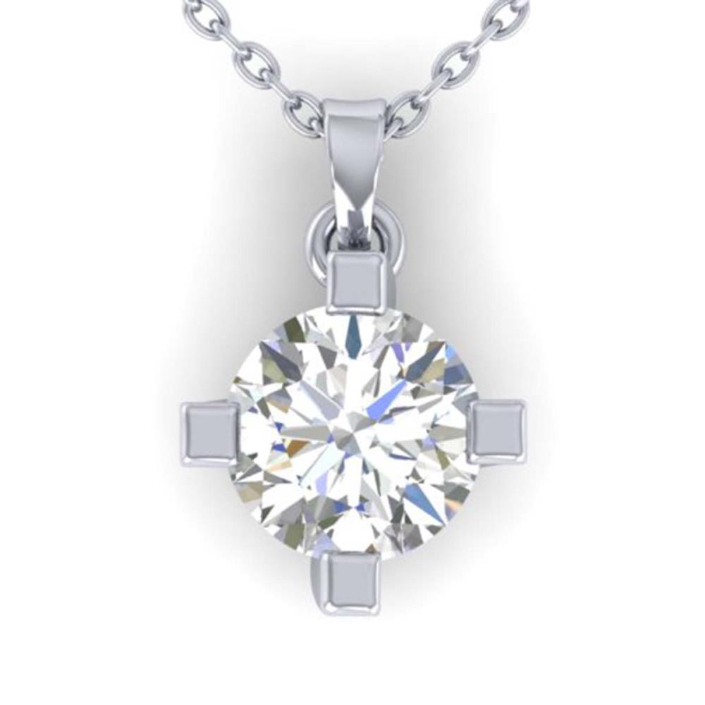 1 ctw VS/SI Diamond Solitaire Necklace 18K White Gold - REF-276W7H - SKU:32660