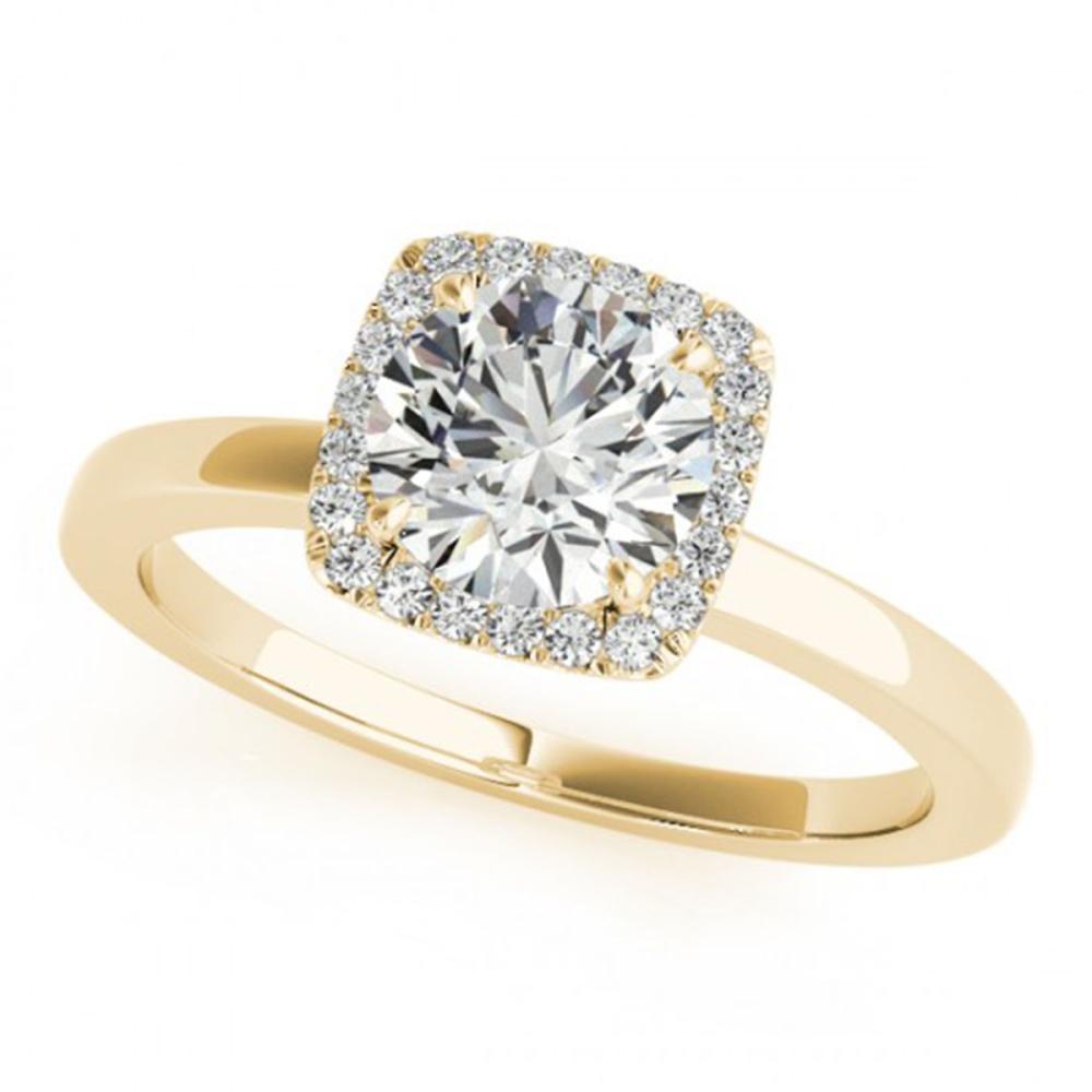 1.15 ctw VS/SI Diamond Halo Ring 14K Yellow Gold - REF-267M5F - SKU:24128