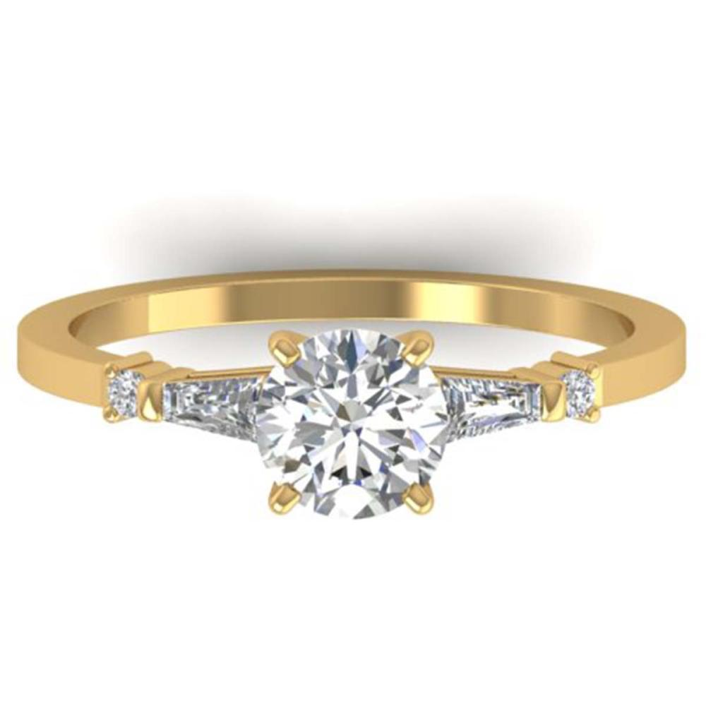 1.04 ctw VS/SI Diamond Solitaire Ring 18K Yellow Gold - REF-186Y2X - SKU:32650