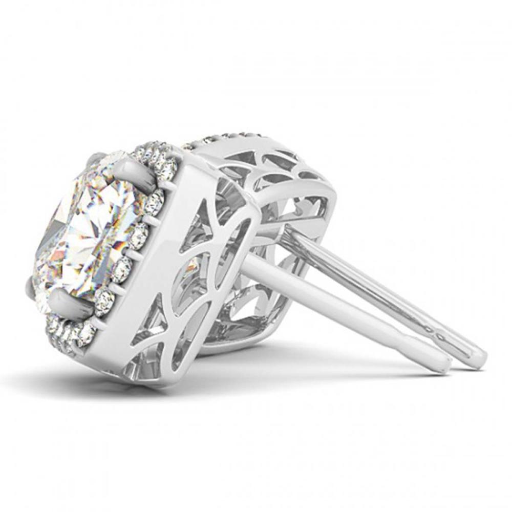 1 ctw Diamond VS/SI Halo Cushion Cut 14K White Gold - REF-89R3K - SKU:29288