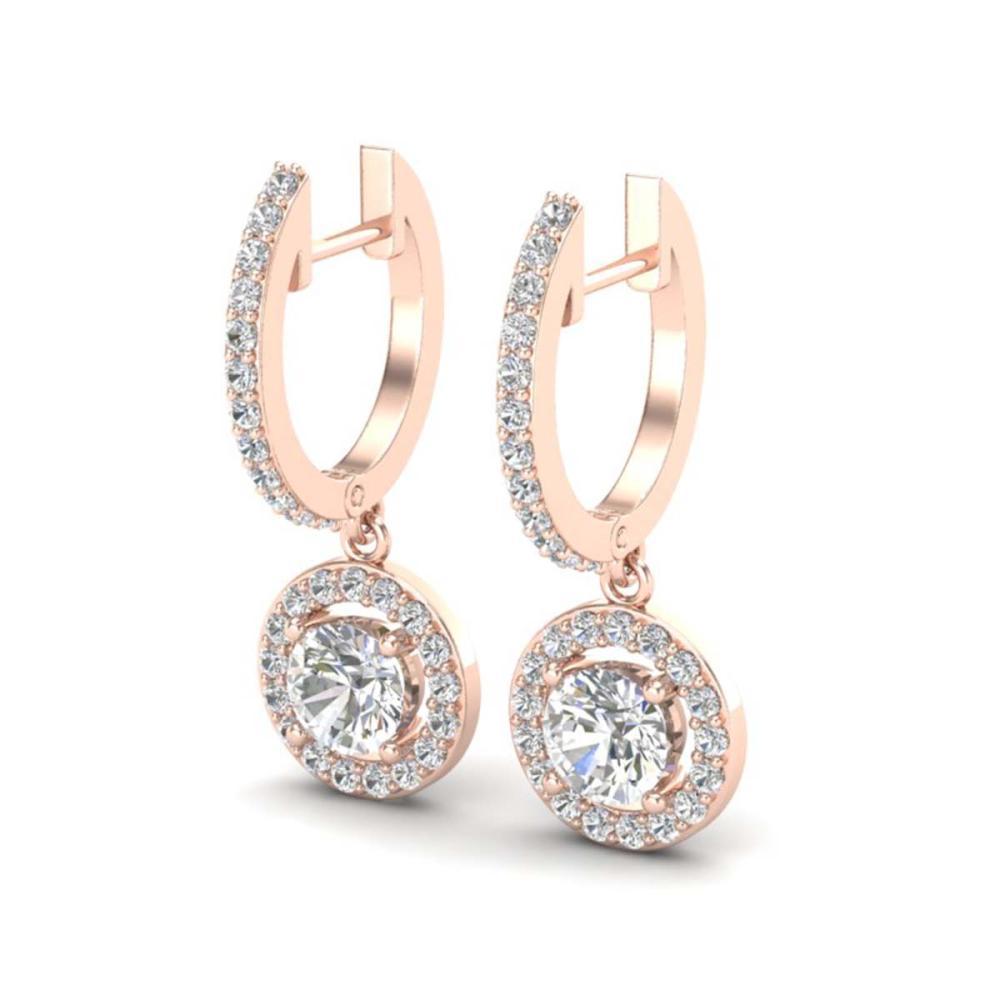 1.75 ctw VS/SI Diamond Earrings 14K Rose Gold - REF-208R7K - SKU:23254