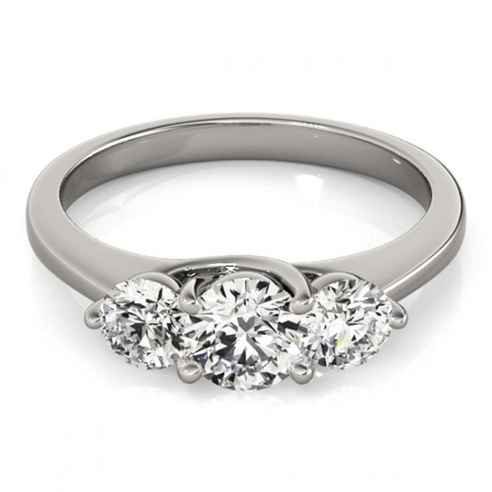 0.50 ctw VS/SI Diamond 3 Stone Ring 14K White Gold - REF-48H5M - SKU:25856
