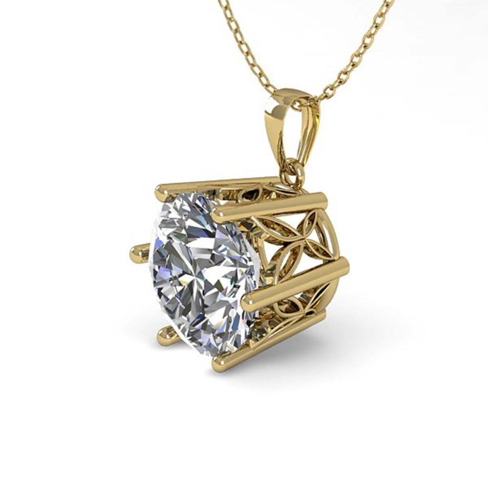 1 ctw VS/SI Diamond Art Deco Necklace 14K Yellow Gold - REF-268M6F - SKU:29686