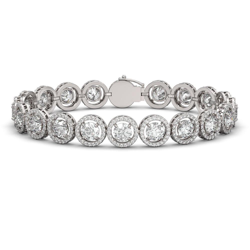 13.42 ctw Diamond Bracelet 18K White Gold - REF-1630A6V - SKU:42581