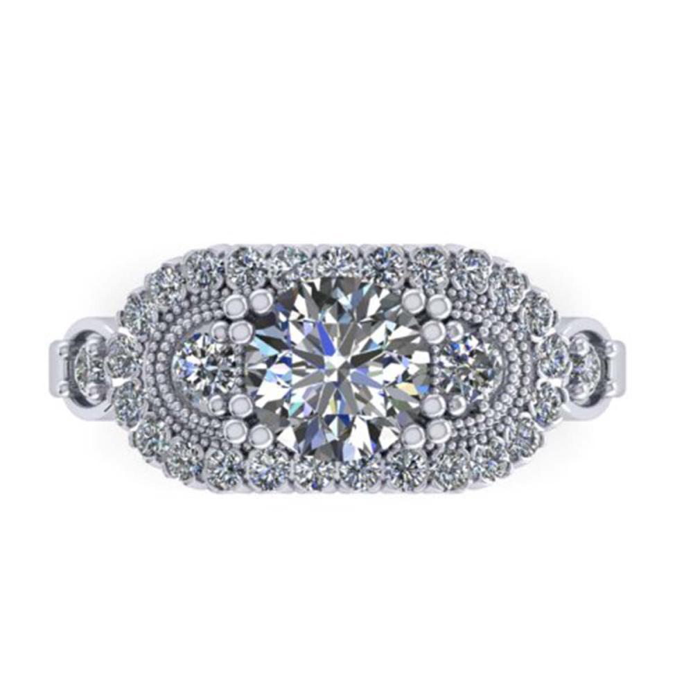 1.75 ctw Solitaire VS/SI Diamond Ring 18K White Gold - REF-413R2K - SKU:32849