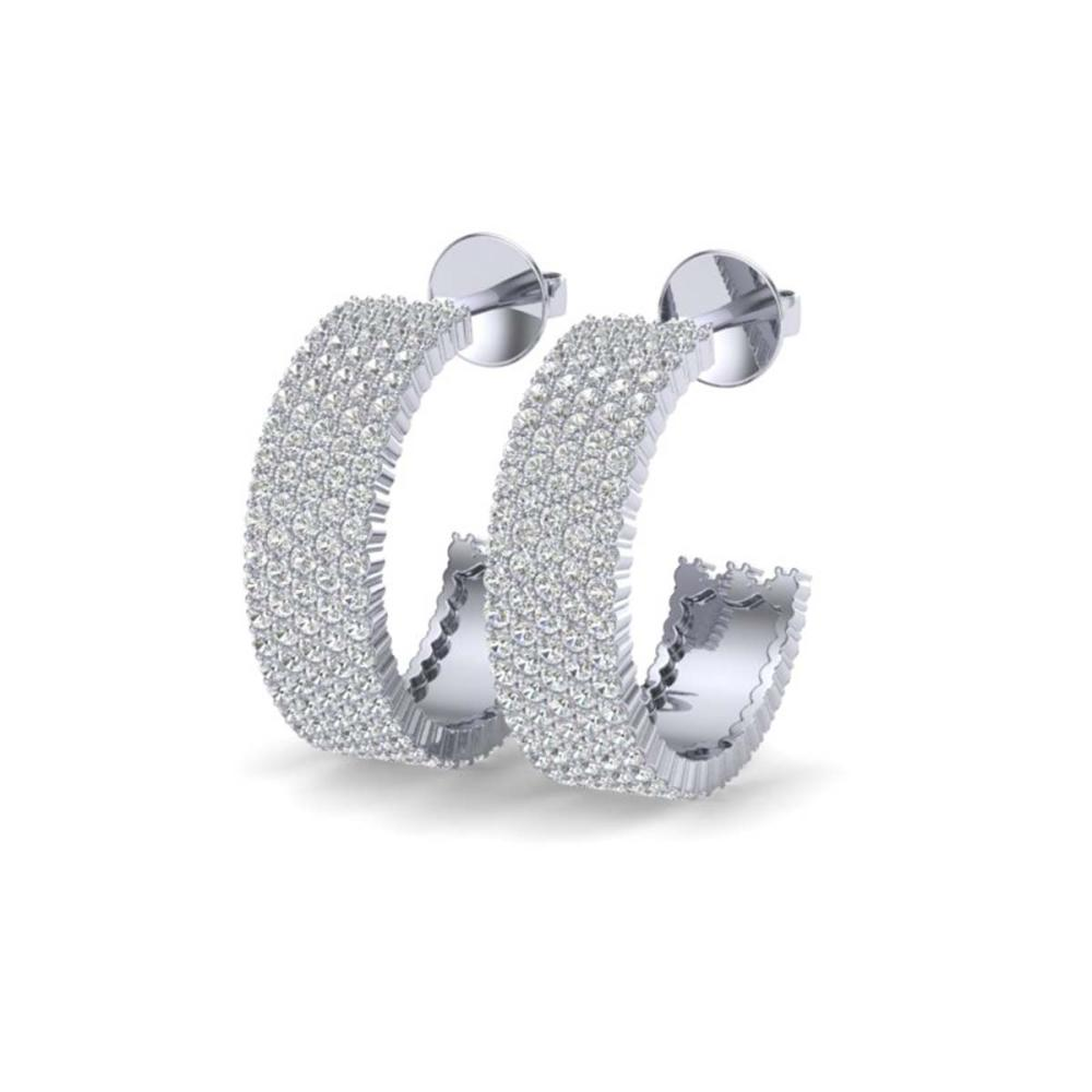 4.50 ctw VS/SI Diamond Earrings 14K White Gold - REF-292W5H - SKU:20174