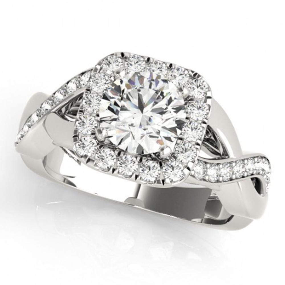 1.65 ctw VS/SI Diamond Halo Ring 14K White Gold - REF-286A5V - SKU:24039