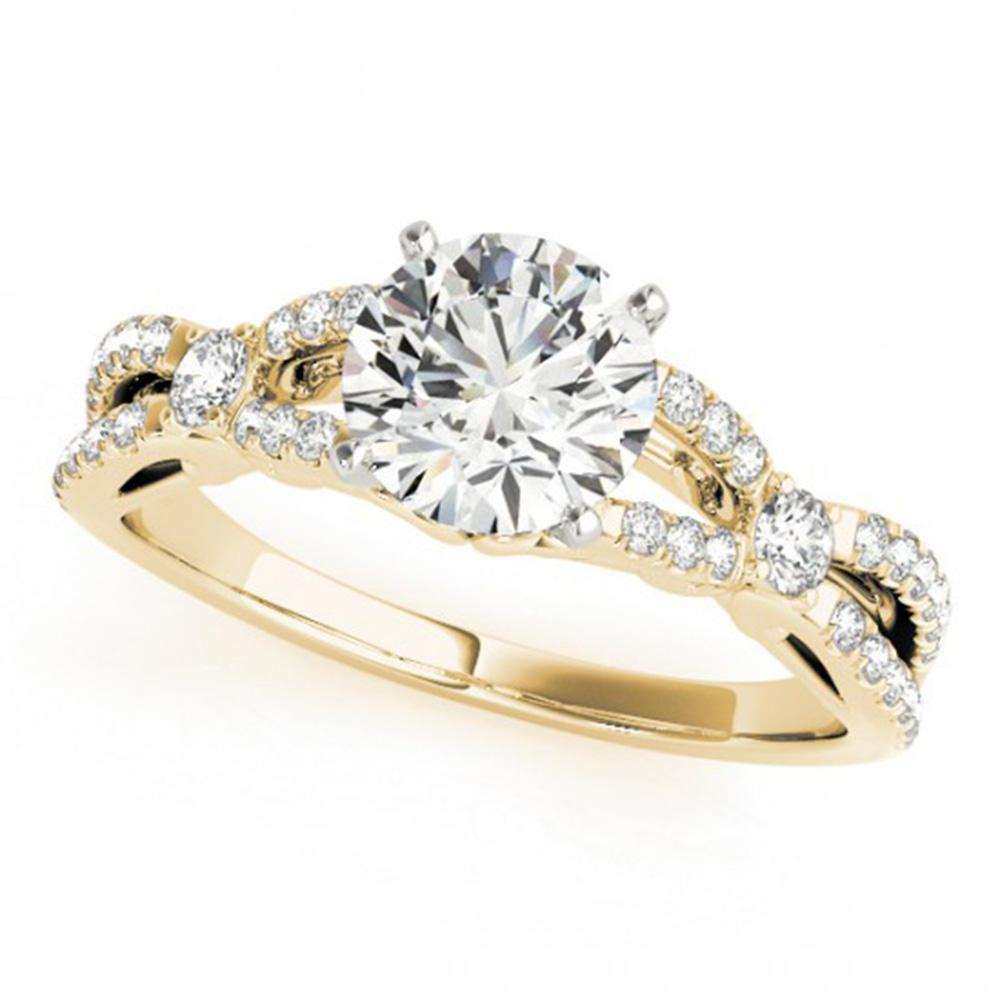 1.35 ctw Certified VS/SI Diamond Ring 14k Yellow Gold - REF-270W3H
