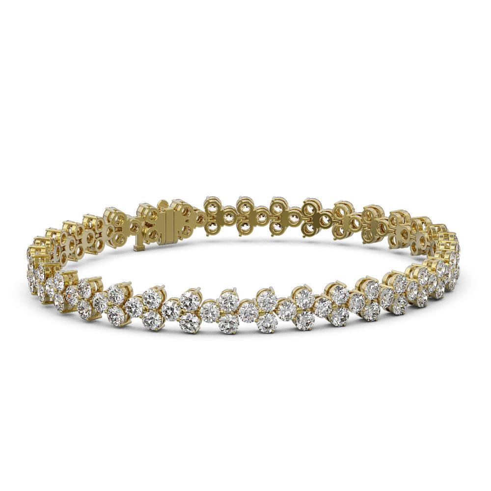 13 ctw Diamond Designer Bracelet 18K Yellow Gold - REF-842X5A