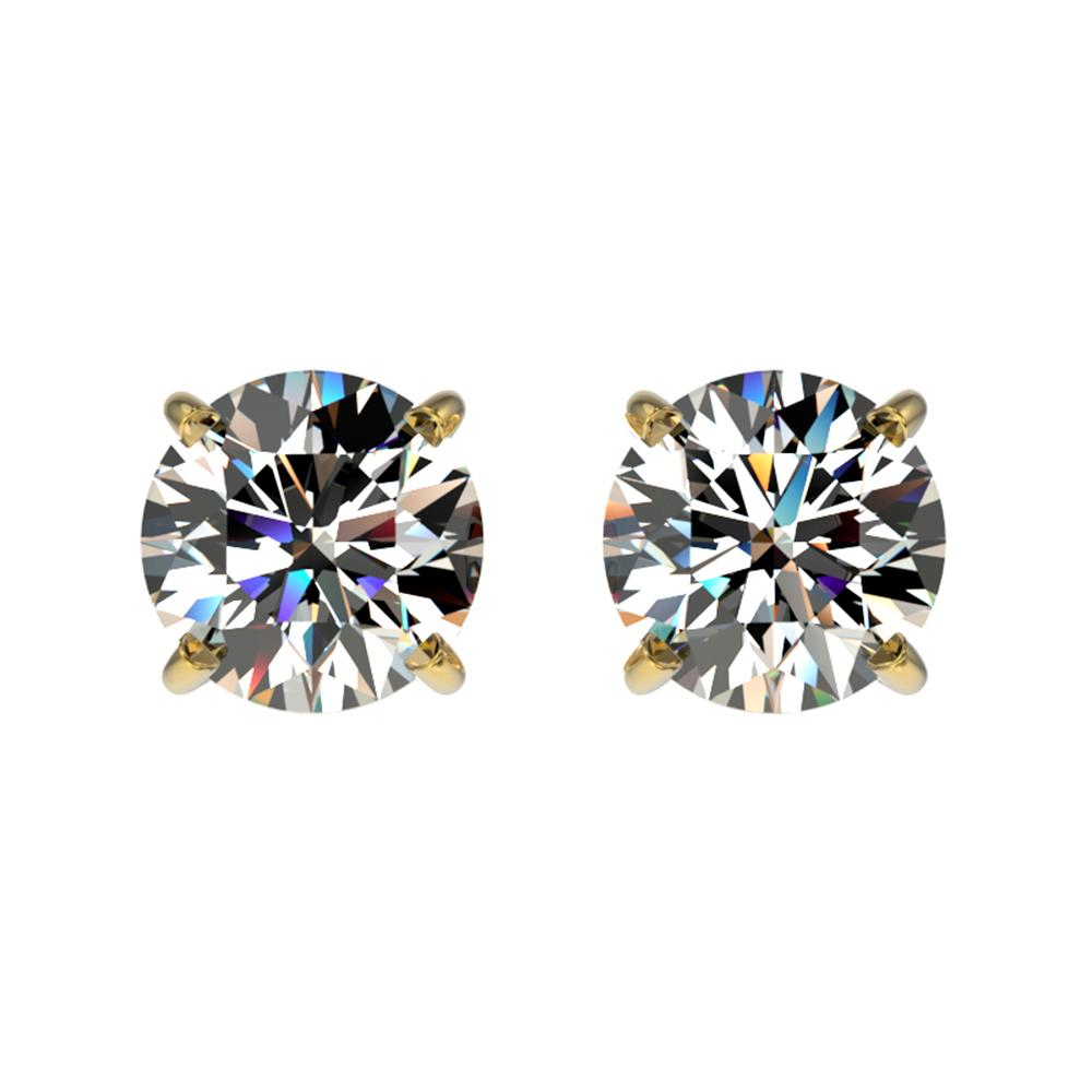 1.04 ctw Certified Quality Diamond Stud Earrings 10k Yellow Gold - REF-72Y3X