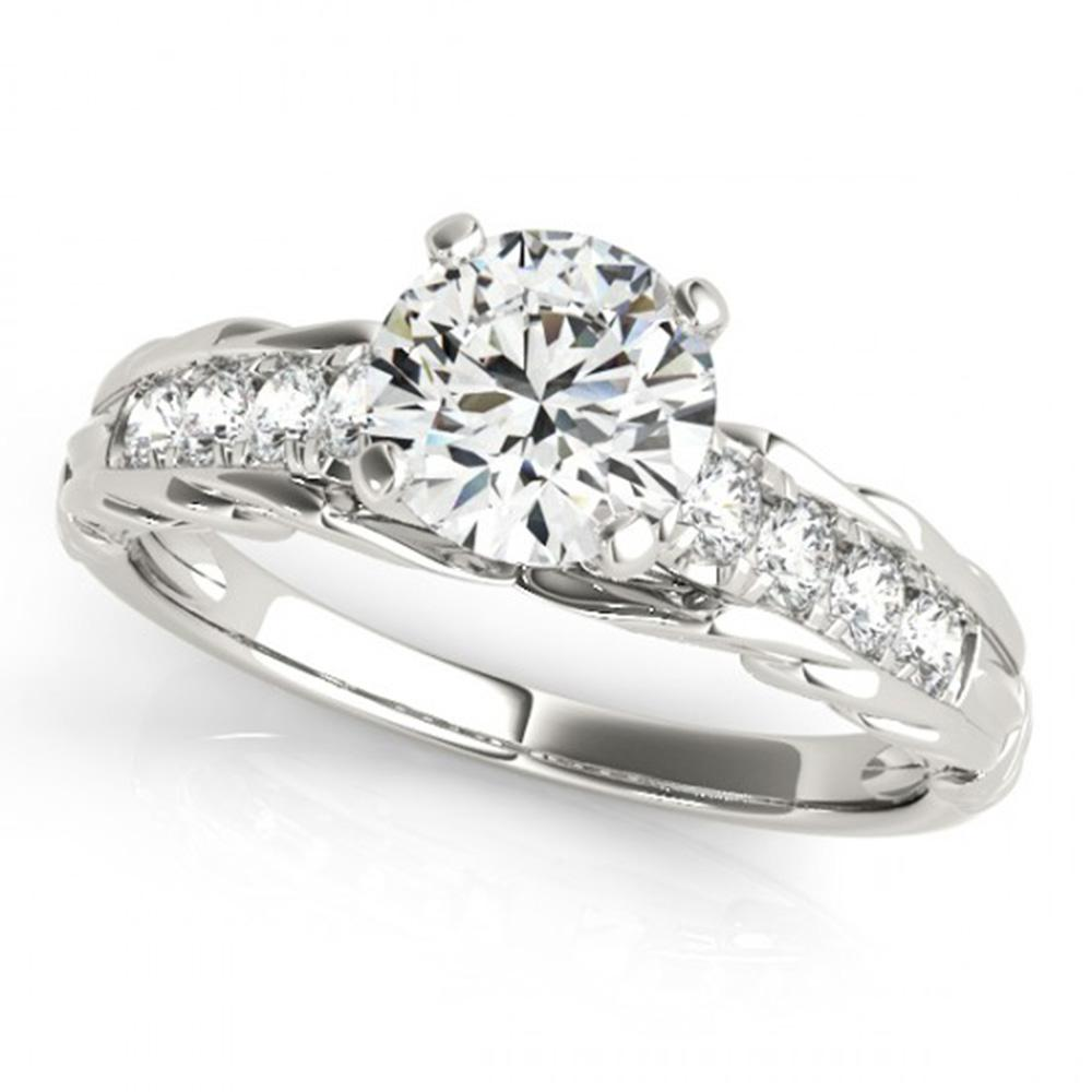 0.95 ctw Certified VS/SI Diamond Solitaire Ring 14k White Gold - REF-132X3A