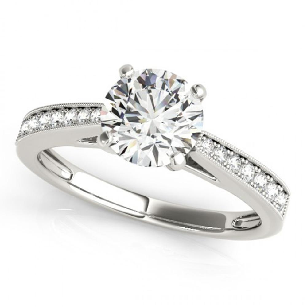 0.7 ctw Certified VS/SI Diamond Solitaire Ring 14k White Gold - REF-91R4K