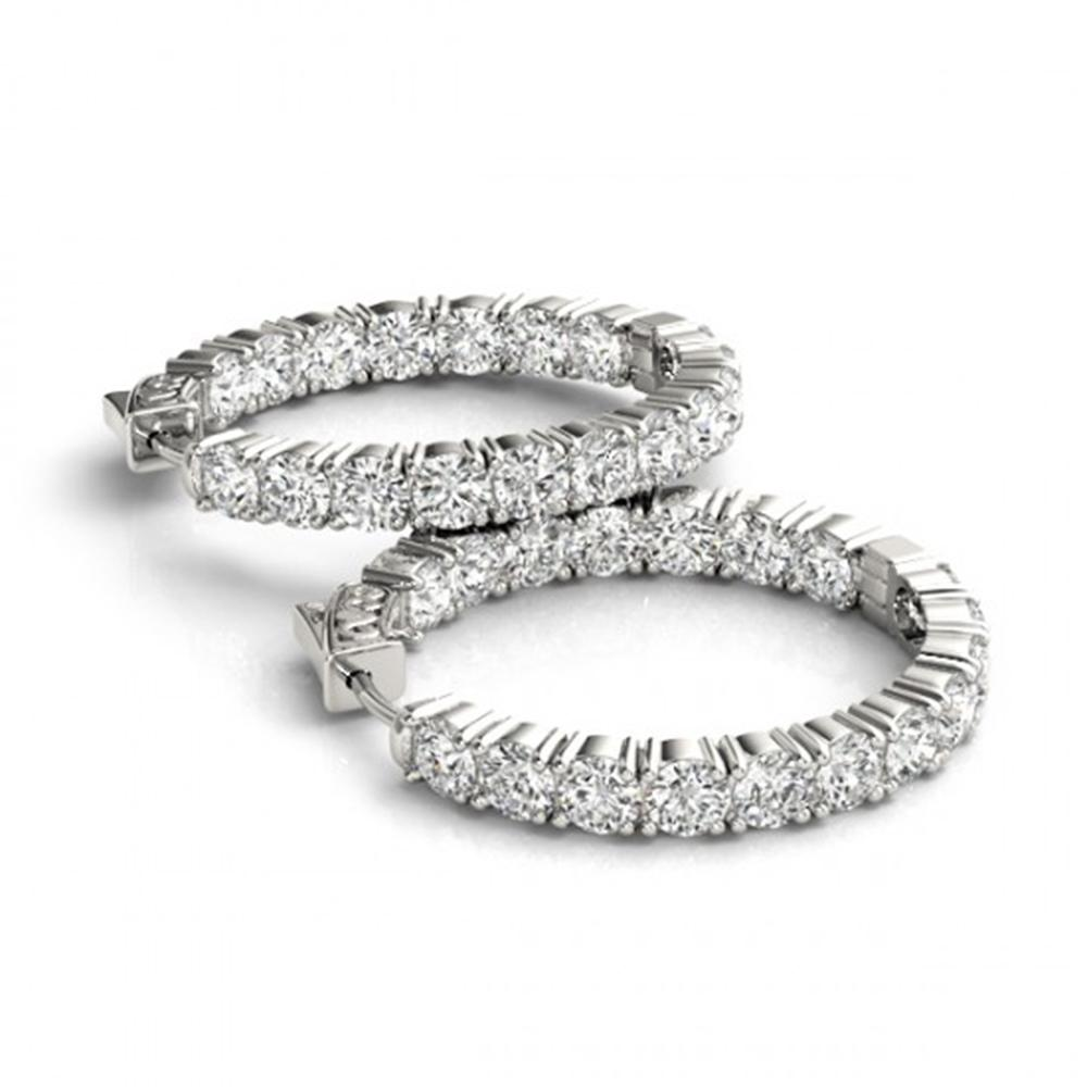 3.5 ctw Diamond VS/SI 22 MM Hoop Earrings 14k White Gold - REF-345G5W