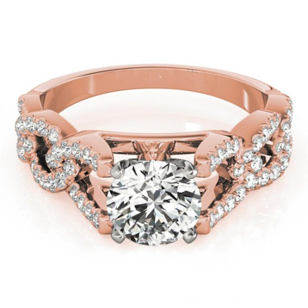 1.5 ctw Certified VS/SI Diamond Ring 14k Rose Gold - REF-282Y8X