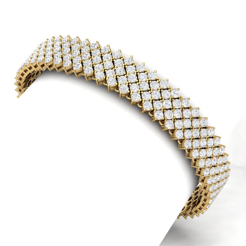 20 ctw Certified VS/SI Diamond Bracelet 18K Yellow Gold - REF-1020F2M