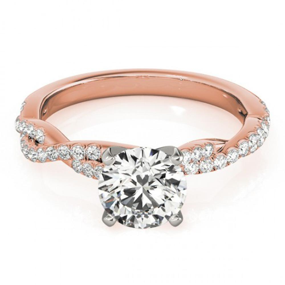 1.25 ctw Certified VS/SI Diamond Solitaire Ring 14k Rose Gold - REF-263R2K