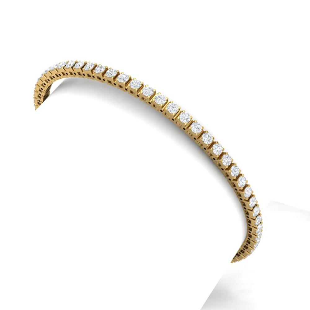 4 ctw Certified SI/I Diamond Bracelet 18K Yellow Gold - REF-264K6Y
