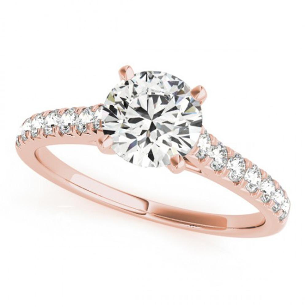 1.45 ctw Certified VS/SI Diamond Solitaire Ring 14k Rose Gold - REF-269W3H