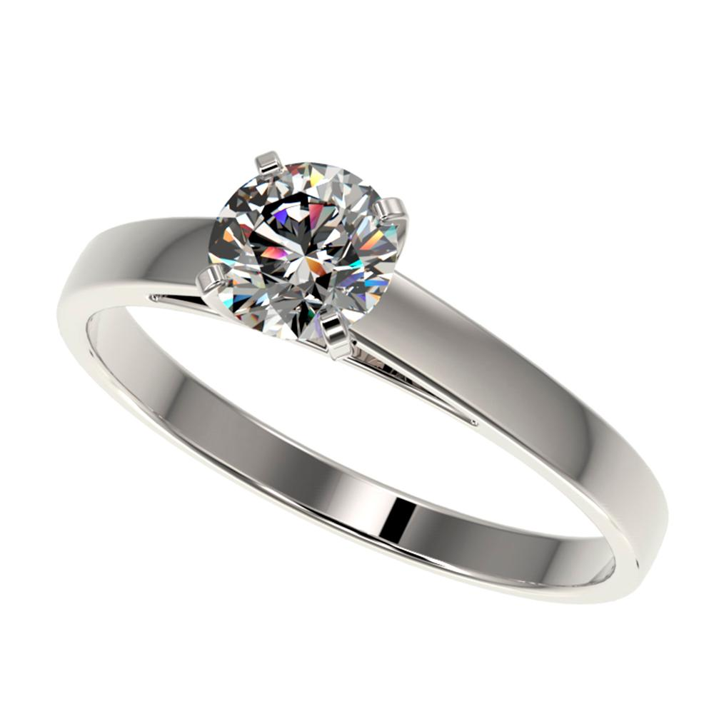 0.73 ctw Certified Quality Diamond Engagment Ring 10k White Gold - REF-68H2R