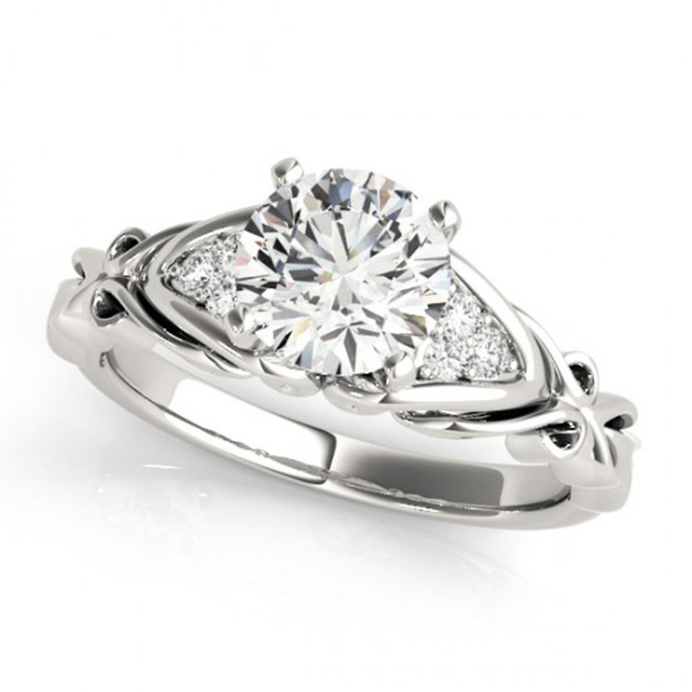 0.85 ctw Certified VS/SI Diamond SolitaireRing 14k White Gold - REF-133N6F