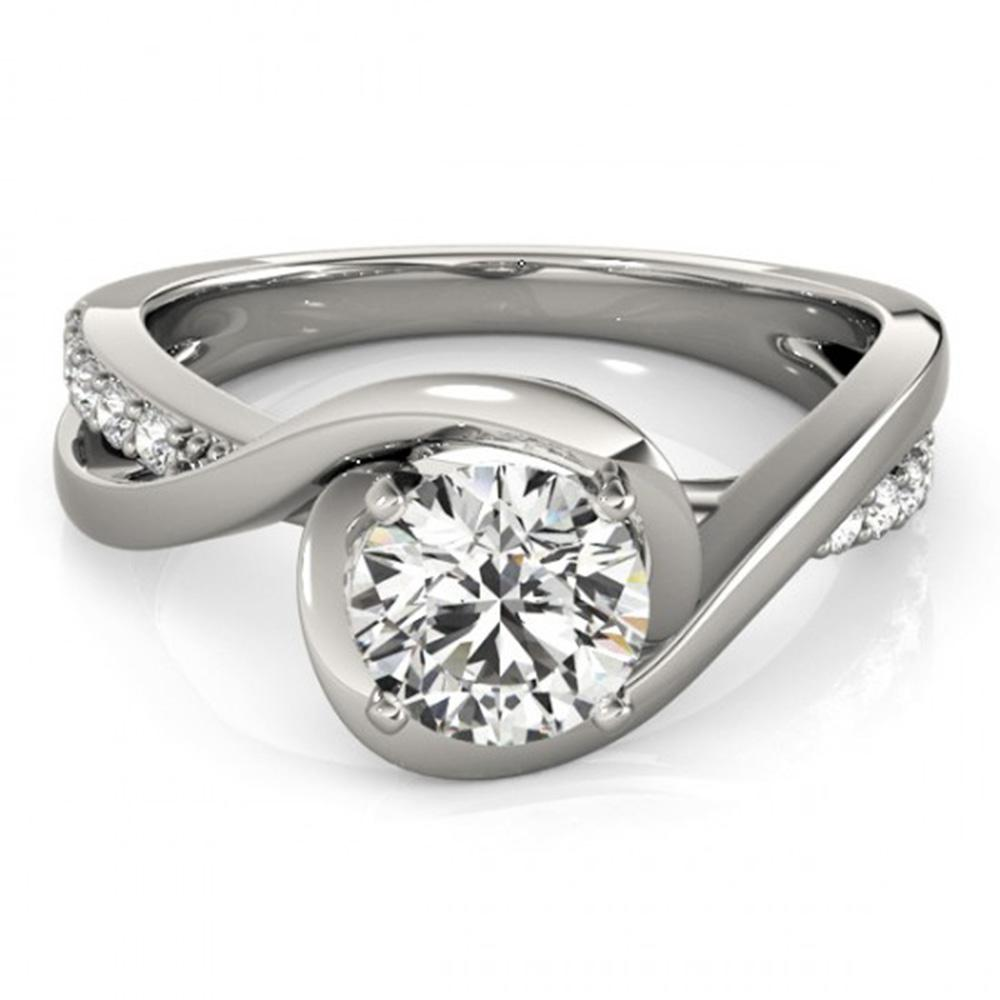 1.15 ctw Certified VS/SI Diamond Solitaire Ring 14k White Gold - REF-268N2F