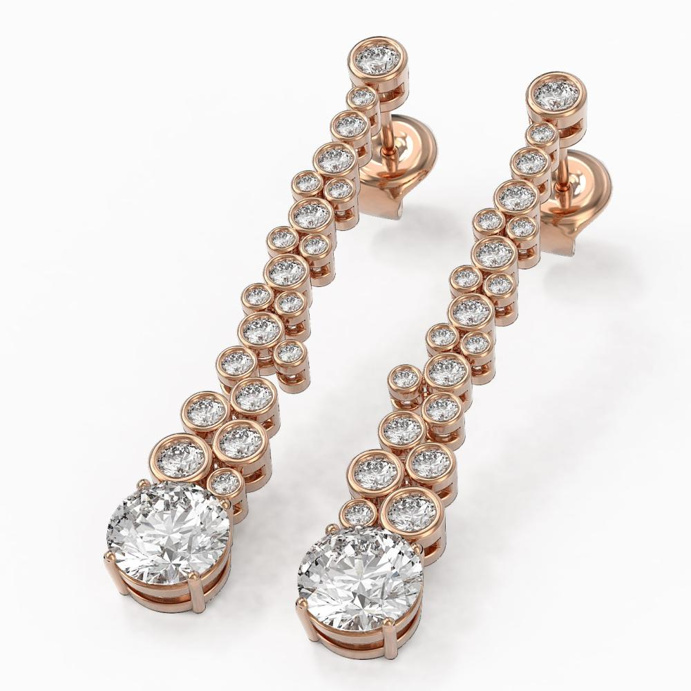 2.5 ctw Diamond Designer Earrings 18K Rose Gold - REF-301W6H
