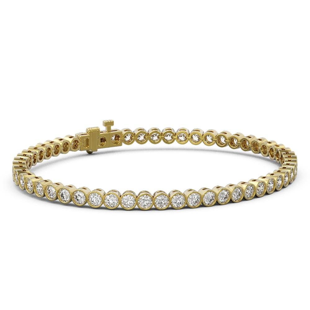 7 ctw Diamond Designer Bracelet 18K Yellow Gold - REF-624M8G