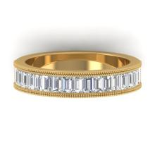 1.50 CTW Baguette Certified VS/SI Diamond Art Deco Eternity 18K Gold - 32578-REF-187F5X