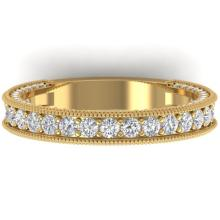 1.25 CTW VS/SI Diamond Art Deco Eternity Band Ring 18K Size 7 Gold - 32581-REF-128K2W
