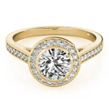 1.3 CTW Certified VS/SI Diamond Solitaire Halo Ring 14K Yellow Gold - 24266-REF-300K8W