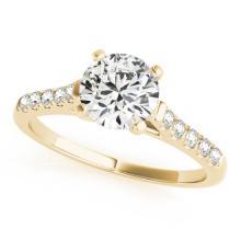 1.2 CTW Certified VS/SI Diamond Solitaire Bridal Ring 14K Gold - 25432-REF-344Z4K