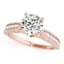 1.21 CTW Certified VS/SI Diamond Solitaire Antique Ring 14K Rose Gold - 25206-REF-356K2W