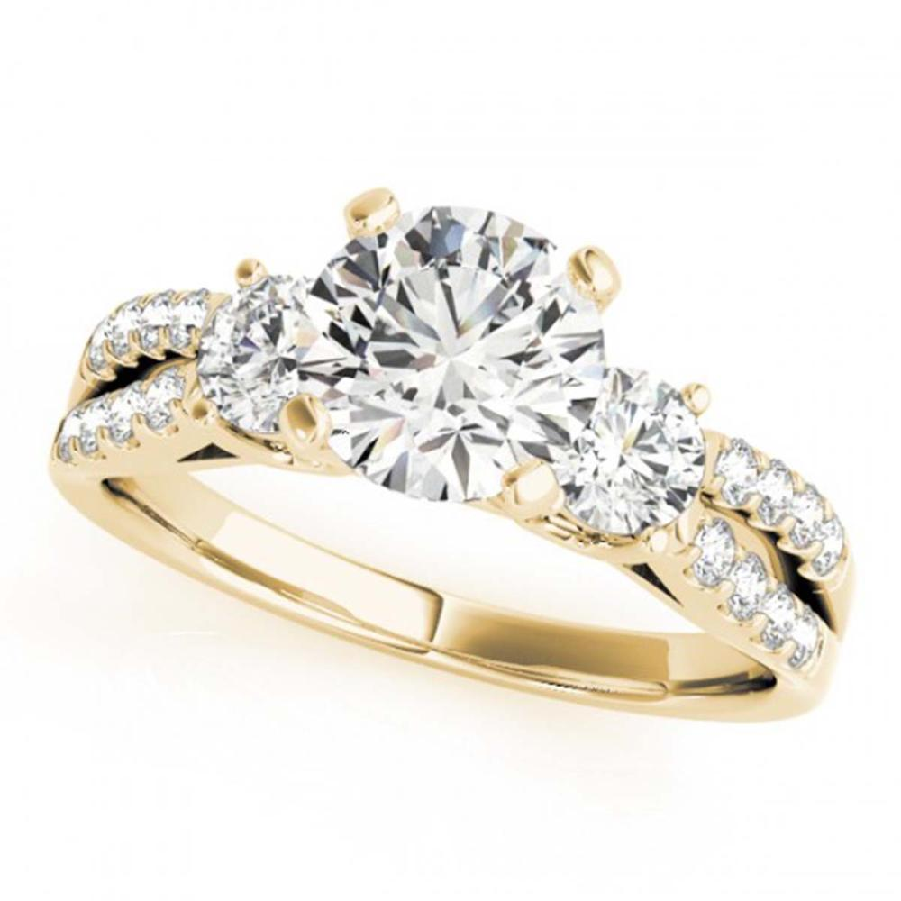 1.25 ctw VS/SI Diamond 3 Stone Ring 14K Yellow Gold - REF-144M2F - SKU:25873