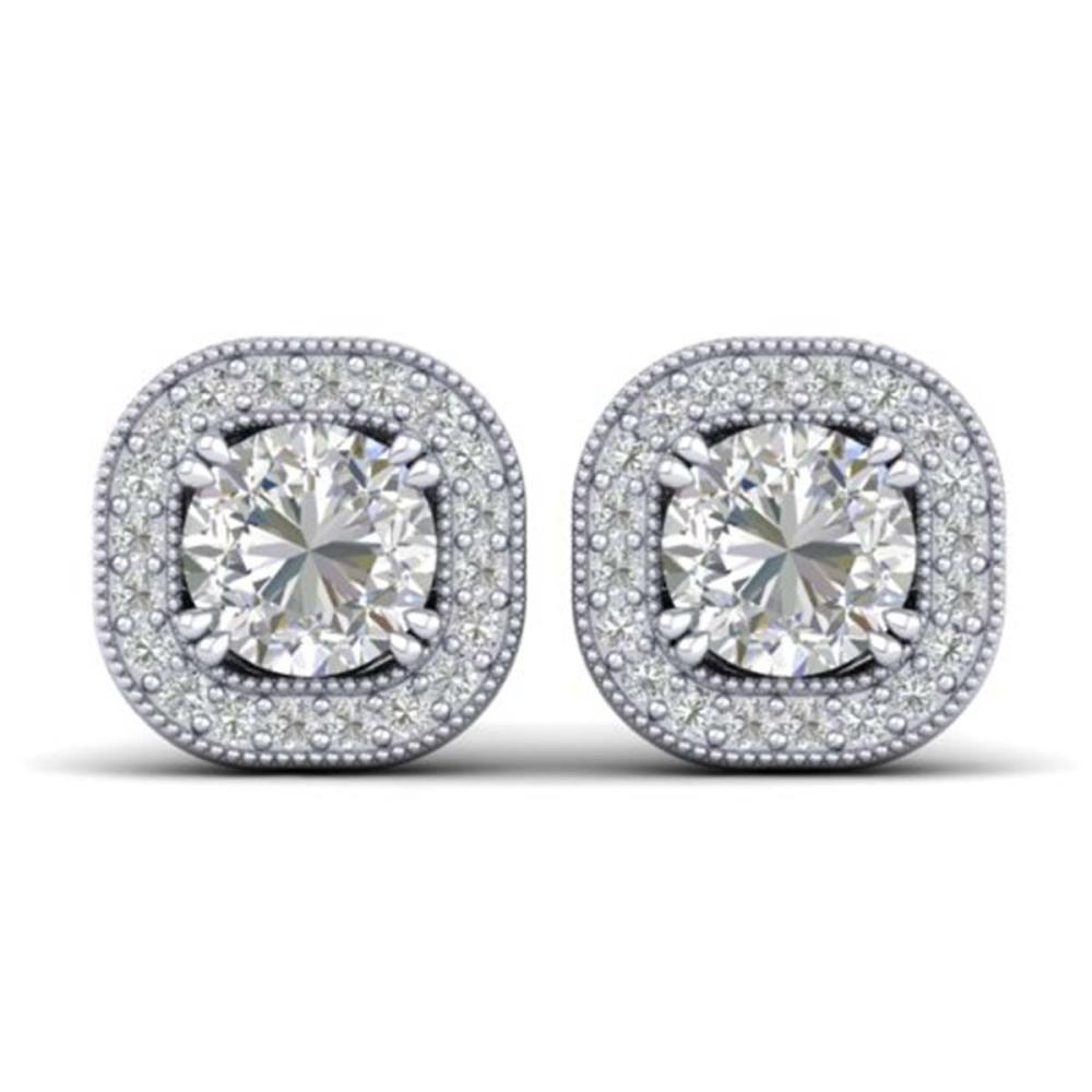 1.35 ctw VS/SI Diamond Stud Earrings 18K White Gold - REF-189V8Y - SKU:32690